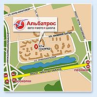 Автошкола, Мотошкола (карта проезда)