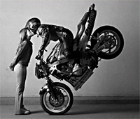 Обучение трюкам на мотоцикле